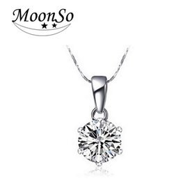 Shop celtic diamond pendant uk celtic diamond pendant free wholesale moonso necklaces pendants with free chain real sterling silver 925 cz diamond zircon for women wedding fashion jewelry w0852 aloadofball Image collections