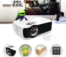 Proyector Wifi Australia - Wholesale-Android4.4 WIFI Bluetooth 1280*720p 3000Lumens Mini projector Mobile Cinema Home Theater LED Portable proyector beamer