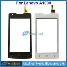 Touch screen replacemenT for lenovo online shopping - High Quality quot For Lenovo A1000 Touch Screen Digitizer Front Glass Panel Sensor Replacement Black White Color