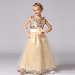 year old child skirt Canada - 2016 new children dress princess skirt wearing sequined belt length dress suitable for children of 3-16 years old children