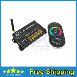$enCountryForm.capitalKeyWord NZ - Free shipping DC5-24V 3Channels 8A Ch 2.4G LED RGB Full Color Controller with wireless RF Wheel Touch Panel Remote control