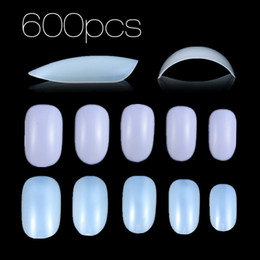 finger nail painting tools 2019 - New Nail Art Fake Nails Round Tips Faux Ongles 600 Painting False Nails Tip Manicure Diy Tools Study Accessories Nails A