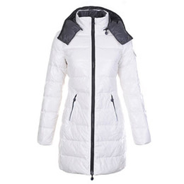 Cheap warm Clothing online shopping - Fashion Winter Down Hooded Coat Women Warm Jacket Long Moka Clothes Brand Designer american Cool Outwear Cold Black White Plus Size Cheap