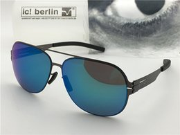 Germany coat online shopping - Germany designer brand sunglasses IC model guenther ultra light without screw memory alloy glasses removable frame coating reflective lens