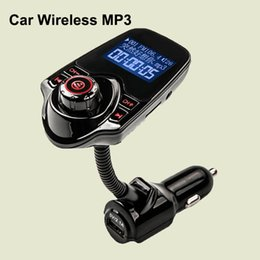 Discount display tuner - Hot T10 Car Wireless MP3 FM Transmitter LCD Display Bluetooth V3.0+EDR Handsfree Kit Support U Disk FLAC TF Card DHL OTH