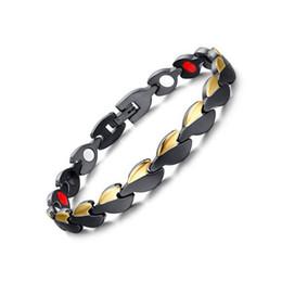 $enCountryForm.capitalKeyWord Australia - New Fashion Gold Black 316L Stainless Steel Magnetic Therapy Health Care Bangle Women Men Germanium Hologram Bracelet Anniversary Gift B872S