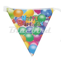 Wholesale 26m Bunting Flags Banner Happy Birthday Party Dessert Table Decoration