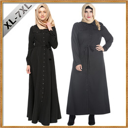 Discount turkish islamic clothes - XL-7XL Larger Size Abaya Turkish Women Clothing Muslim Dress Islamic Jilbabs and Abayas Musulmane Vestidos Turkey Hijab