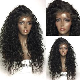 human lace fronts for cheap NZ - Glueless Full Lace Wig Brazilian Lace Front Human Hair Wigs For Black Women Cheap Curly Full Lace Human Hair Wigs With Baby Hair