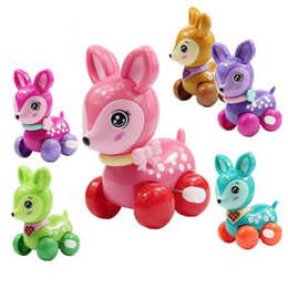Zoo Toys Canada - 5pcs lot Lovely wind up toy funny baby Zoo Baby deer design Running Clockwork Spring Toy newborn baby clockwork toy Color Random