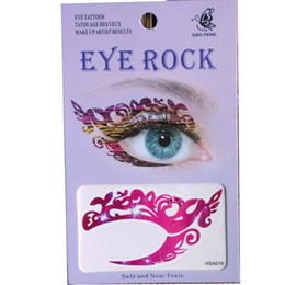 temporary eye shadow tattoos UK - free shipping 24pieces eye shadow tattoo sticker eye rock 8 design mix waterproof eye tattoo Transfer Temporary tatoo
