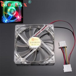 $enCountryForm.capitalKeyWord NZ - Wholesale- NEW Mecall Colorful Quad 4-LED Light Neon Clear 120mm PC Computer Case Cooling Fan Mod wholesale Oct20