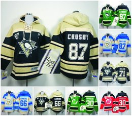 98d654e76 Hockey Hoodies Pittsburgh Penguins New Jersey Devils Signed Jersey 66 Mario  Lemieux 71 Old Time ...