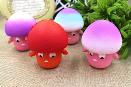 stress relieving gifts Canada - wholesale Squishy 9cm Kawaii Mushroom Slow Rising Squeeze Toy Relieve Anti Stress Reduce Autism Fidget Toy For Kids Adults Toy Gift