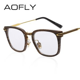 300a1b18c91f Wholesale- AOFLY Fashion Newest Style Frame Plain Eyeglass Frame Optics  Clear Reading Glasses Trendy Goggles for Men Women oculos feminino