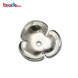 wholesale spacer beads Australia - Beadsnice 925 Sterling Silver Flower Bead Caps Small Size Bead Cap for Spacer Beads Bracelets Jewelry Making ID36303 36302