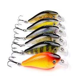 Hard Bait Minnow Crankbait Canada - Good Selling 6PCS Simulated Crankbait Lifelike Minnow Hard Baits 3D Printing Plastic Fake Lure 7.6cm 12.7g Artificial Fishing Tackle