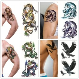 $enCountryForm.capitalKeyWord NZ - Wholesale-3D New Man's Sleeve Arm Leg Temporary Totem Tattoo Stickers Body Art Tattoos Diy Body painting Car Wall Decals