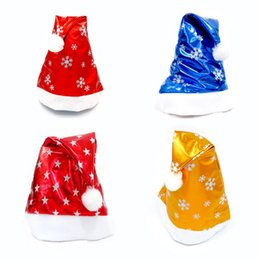 b99a08185 Child Christmas Hat Canada - Bright Christmas Snowflake Star Hat Adult Child  Cute Santa Claus Caps