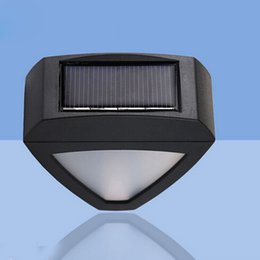 Outdoor Lighting 2leds Outdoor Waterproof Triangle Led Solar Power Wall Light Energy Saving Street Yard Path Home Garden Fence Security Lamp Latest Fashion