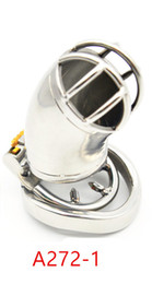 Chastity deviCe ball Cage online shopping - stainless steel male chastity device Anti off ball stretcher sex penis ring for men male cock cage sex toys for male