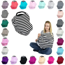 Scarf Shopping Canada - Multifunctional Nursing Cover 4in1 Multi-Use Stretchy Infinity Scarf Baby Car Seat Canopy Breastfeeding Shopping Cart High Chair Cover
