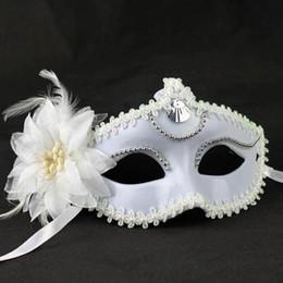 $enCountryForm.capitalKeyWord Australia - Women Party Mask With Lily Flower Female Cosplay Half Face Masks Girl Princess Halloween Masks