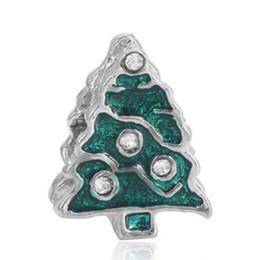 $enCountryForm.capitalKeyWord UK - Wholesale Green Enamel Christmas Tree Charm Silver European Charms Beads Fit Pandora DIY Snake Chain Bracelet Fashion Jewelry for Women Gift