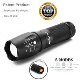 Discount flashing lights - AloneFire E26 led zoomable flashlight CREE XML-T6 3800LM Adjustable Focus Zoom Flash Light linternas torch lanternas