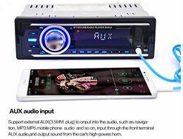 Car Remote Device Australia - 2016 New Car Radio Auto Audio Stereo 12V FM SD MP3 Player AUX-IN USB with 1 Din Remote Control Vehicle In-Dash Audio Device