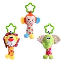 Poussette Enfant Mignonne Pas Cher-Nouveau-né Bébé Enfant Cute Animal Handbells Baby Rattle Developmental Bed Bells Toys Crib Poussette Bed Hanging Plush Stuffed Toy