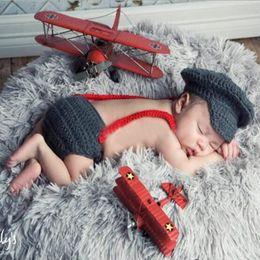 $enCountryForm.capitalKeyWord NZ - 2017 New Baby Photography Props Three Piece Suit Newborn Hats Boy Red Gentleman Bow Tie Dark Grey Baby Photo Clothes Accessories
