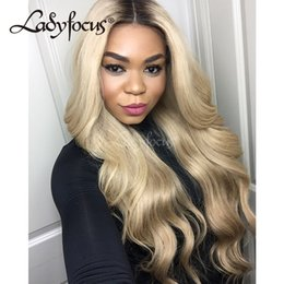 $enCountryForm.capitalKeyWord Australia - Pre Plucked Glueless Full Lace Human Hair Wigs With Baby Hair 180% Density 613 Blonde Body Wave Lace Front Wig For Black Women