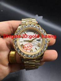 $enCountryForm.capitalKeyWord NZ - 2017 NEW 43mm Gold Big diamond Mechanical man watch (New Rome nail, multi color dial) Automatic Stainless steel men's watches 20180523