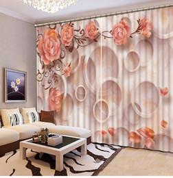 Photo Any Size Custom Classic Home Decor 3d Stereoscopic Flower Custom  Curtain New Custom 3D Beautiful