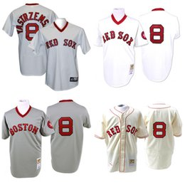 premium selection 55d15 896e6 coupon for boston red sox 8 carl yastrzemski white pullover ...