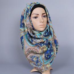 Cashew Hijab Shawl Canada - New Design women printed cashew floral cotton scarf Muffler hijab bohemian muslim summer wrap scarves shawls