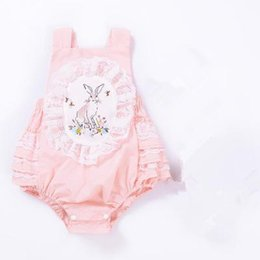 $enCountryForm.capitalKeyWord Canada - Baby Girls Lace Rompers Kids Girl Pink Rabbit Backless Jumpsuit 2017 Newborn Cartoon One-piece Infant Outfits Children Boutique Clothing B81