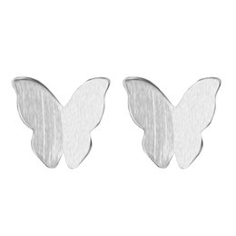 Discount beautiful earrings girls - 5 pairs lot Real 925 Sterling Silver Jewelry Beautiful Small Tiny Butterfly Stud Earring Gift for Women School Girls Lad