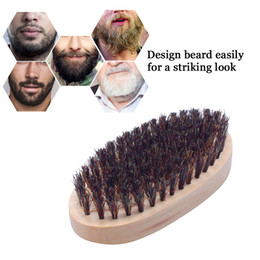 Discount style facial hair Hot Sale Men's Wild Boar Bristles Beard Brush Grooming Shaving Comb Styling Tool Facial Care Free Shipping