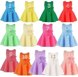 preppy clothing Canada - Multicolor Summer Baby Girl Dresses Sleeveless Lace Girl Flower Dress Children's Summer Clothes Girl TuTu Dress Girls Princess Dresses