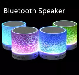 Light Cans Speakers Australia - 2017 Hot sale Mini portable S10A9 crackle texture Bluetooth Speaker with LED light can insert U disc, mobile phone player with retail box