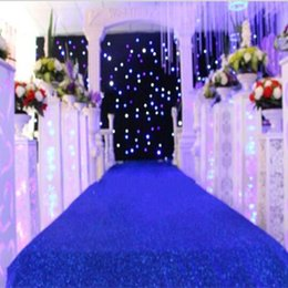 Free Shipping 10 M Lot Dark Blue Theme Wedding Decoration Pearlescent  Carpet Aisle Runner 1 M 1.2m 1.4m Wide Available