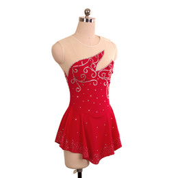 Girls Ice Dress NZ - Competitive Price Girls Skating Competition Dress On Ice Red Fashion Adult Beaded Dress New Brand Wholesale