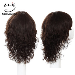 Peruvian Wavy Hair 12 Inches NZ - Indian Women Short Hair Wavy Wigs , 100% Human Hair Full Lace Wig With Bangs 12 Inch Brazilian Hair Lace Front Wig