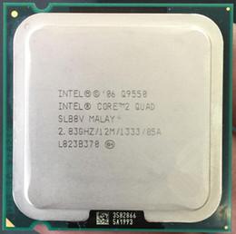 Original utilizado CPU Core 2 Quad Q9550 Procesador 2.83GHz 12MB L2 Caché FSB 1333 Desktop LGA 775 CPU (trabajo 100% envío gratis)
