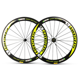 $enCountryForm.capitalKeyWord Canada - 50mm road bike URSUS team eoition flo yellow full carbon fiber wheels bicycle wheelset with powerway R13 R36 R36 novatec 271 291 hubs