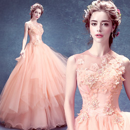 $enCountryForm.capitalKeyWord NZ - Pink flowers toast the bride suits spring dinner meeting princess wedding dresses ball gown floor length dress