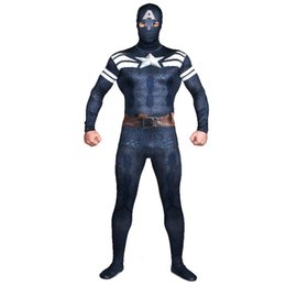 China Superhero The Winter Soldier Cosplay Zentai Costume Multicolor Superman Captain America2 Lycra Spandex Suits supplier superman cosplay zentai suppliers