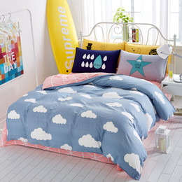 cartoon clouds printed twin queen king size 100 cotton kids bedding set